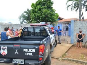 Crime aconteceu na casa do ex-namorado, em Vilhena (Foto: Rede Amazônica/ Reprodução)