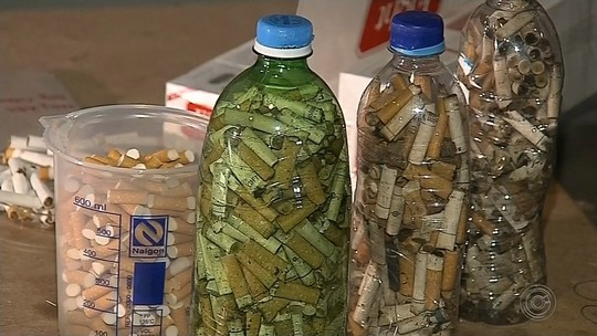 Pesquisadores da Unesp desenvolvem técnicas para reciclar bitucas de cigarros