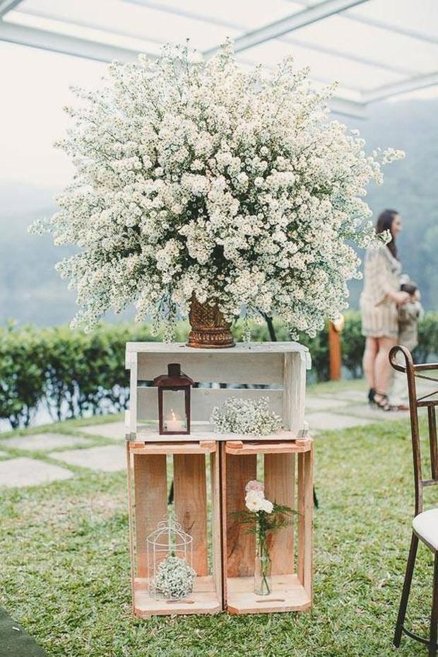 Caixote de madeira: Use em seu casamento (Foto: Pinterest/Reprodução)