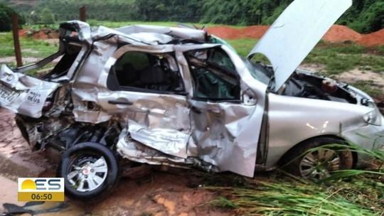 Casal morre em acidente na ES-080 em São Domingos do Norte