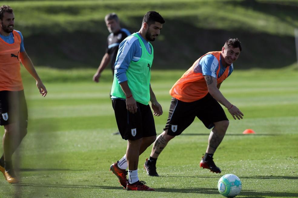 Suárez treina pelo Uruguai: desta vez, sem repescagem? (Foto: Raúl Martínez/EFE)
