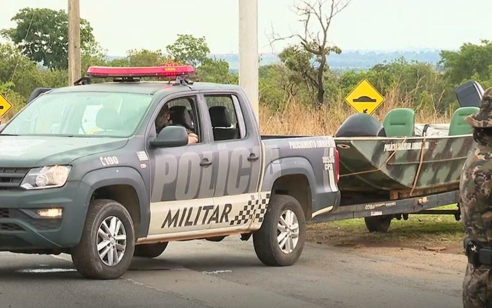 PM vai ajudar em fiscalização durante feriado prolongado em Goiás — Foto: Reprodução/TV Anhanguera