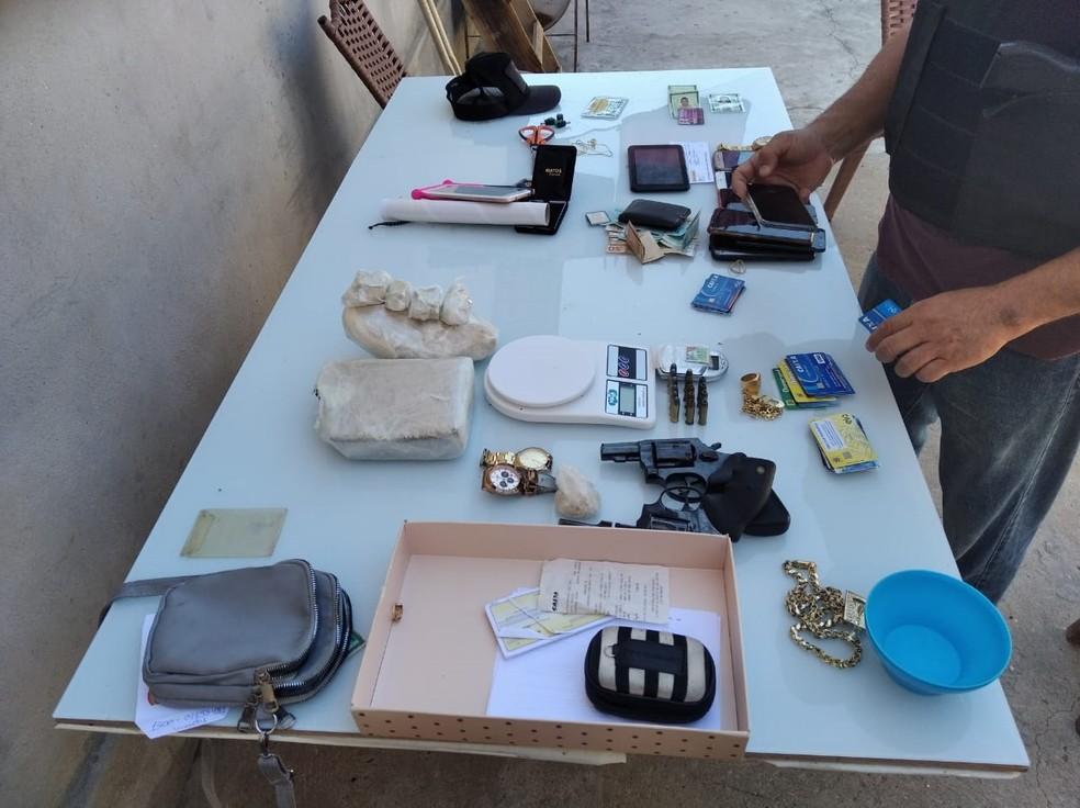 Parte da droga apreendida na casa de líder de facção amazonense — Foto: Divulgação/Polícia Civil