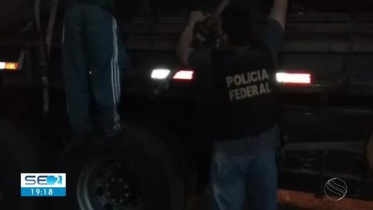 Caminhoneiro é preso em rodovia estadual de Sergipe transportando 60 kg de maconha e 1 kg de cocaína