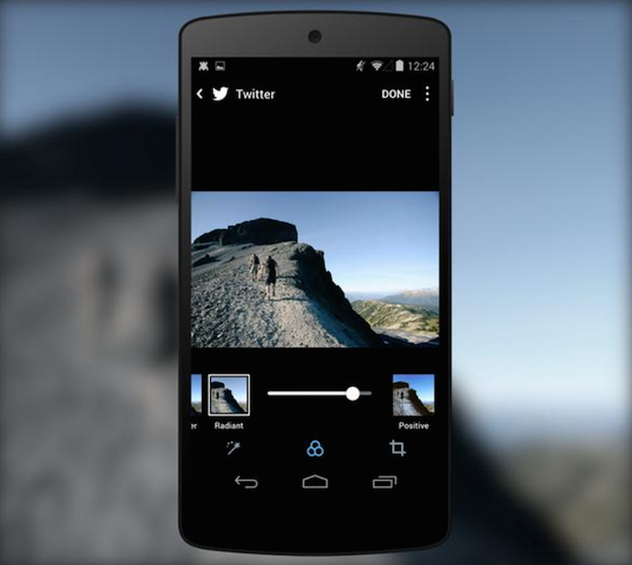 App do Twitter lança filtros com interface igual ao Instagram (Foto: Divulgação/Twitter)