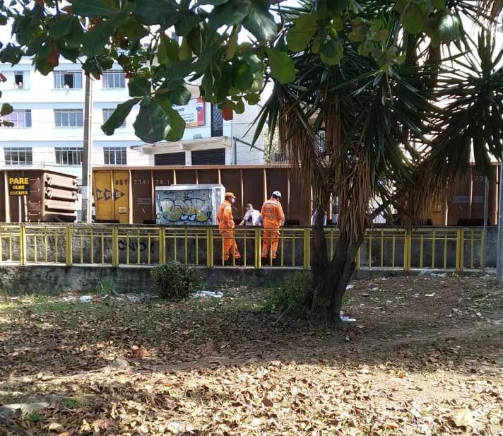 Atropelamento por trem é registrado próximo ao Mergulhão em Juiz de Fora
