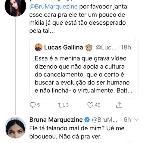 Bruna Marquezine responde seguidora no Twitter (Foto: Reprodução/ Twitter)