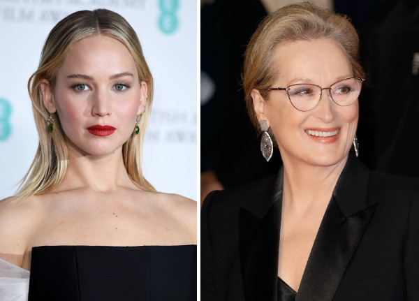 As atrizes Jennifer Lawrence e Meryl Streep (Foto: Getty Images)