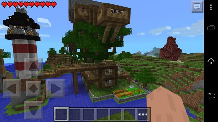 Minecraft: Pocket Edition traz o jogo para iOS, Android e Windows Phone com limitações (Foto: Reprodução/CineWap)