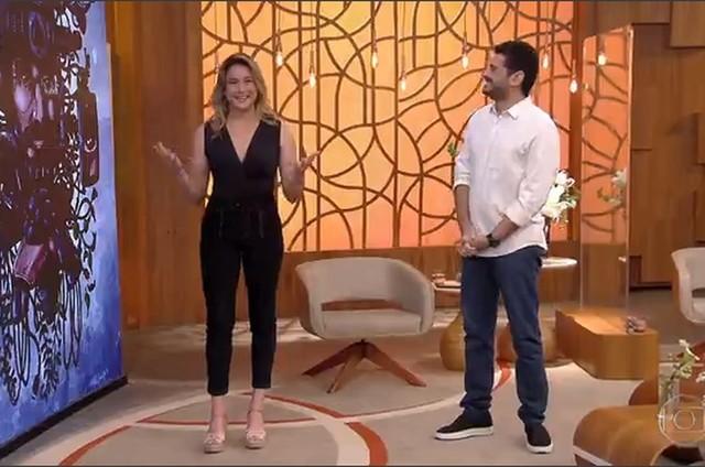 Fernanda Gentil e André Curvello no 'Encontro com Fátima Bernardes' (Foto: Globo)