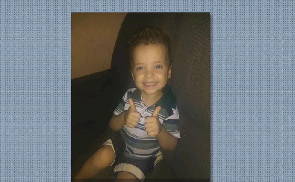 Christian de Jesus, de 4 anos, morreu após picada de escorpião, em Taguatinga — Foto: Reprodução
