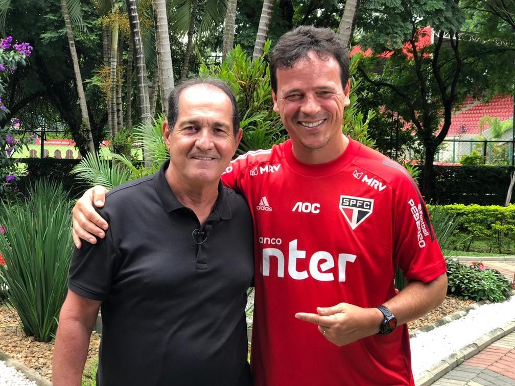 Muricy participou de entrevista coletiva virtual com Fernando Diniz — Foto: Vanessa Santili