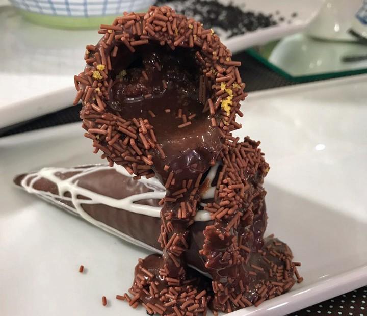 Casquinha de Chocolate Recheada