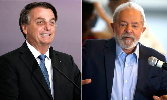 Jair Bolsonaro e Lula