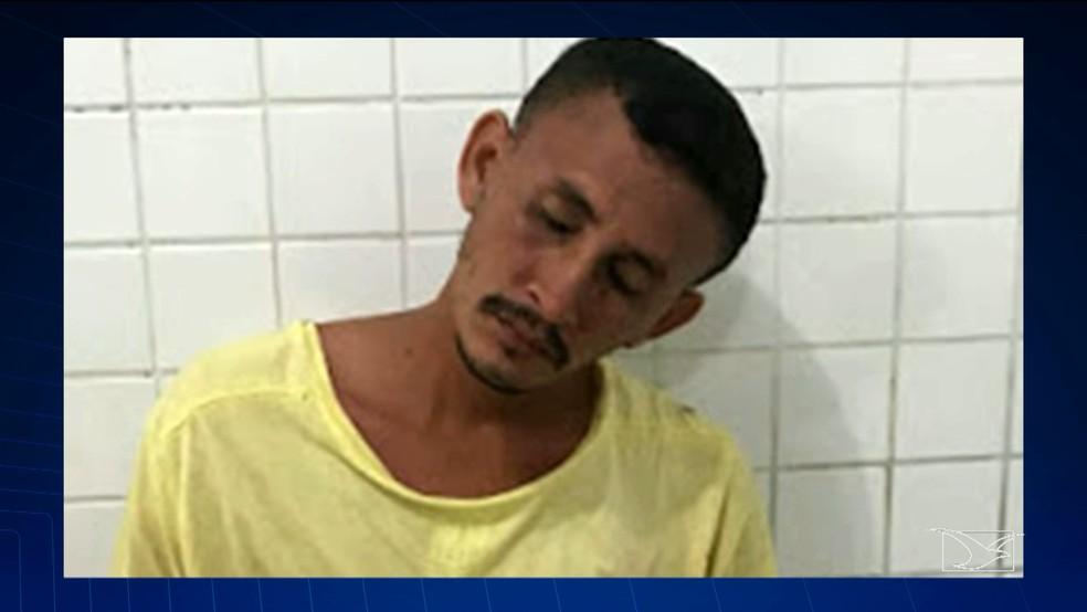 Jackson Rodrigues da Silva foi encaminhado para a delegacia de Polícia Civil da cidade de Chapadinha (Foto: Reprodução/TV Mirante)