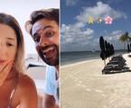 Depois de uma viagem a Punta Cana, na República Dominicana, Dani Calabresa curte Cancún, no México, com o namorado Richard Neuman. Eles estão no resort Nizuc, tem diária entre três e oito mil reais. Ao fundo, é possível ver a piscina privativa | Reprodução