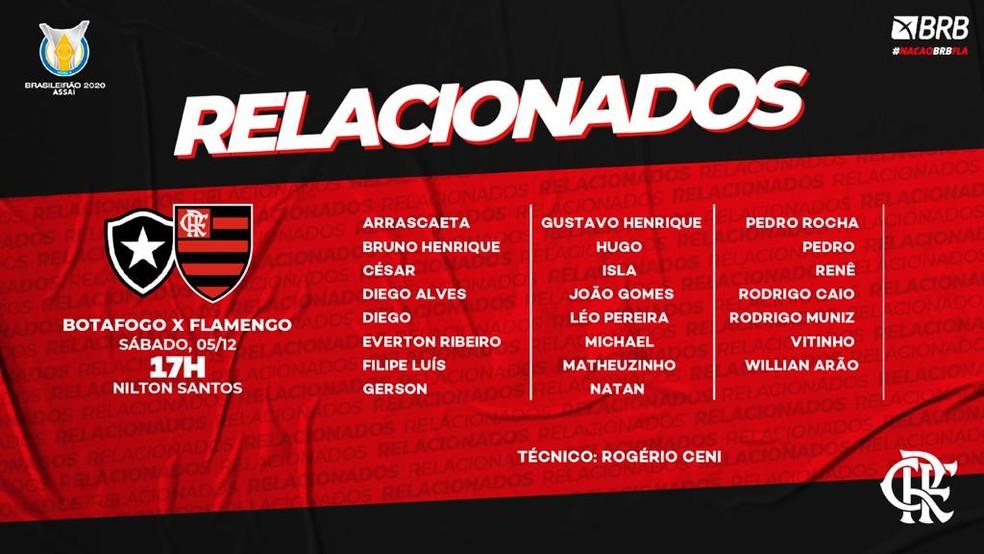 Relacionados Flamengo — Foto: C.R. Flamengo