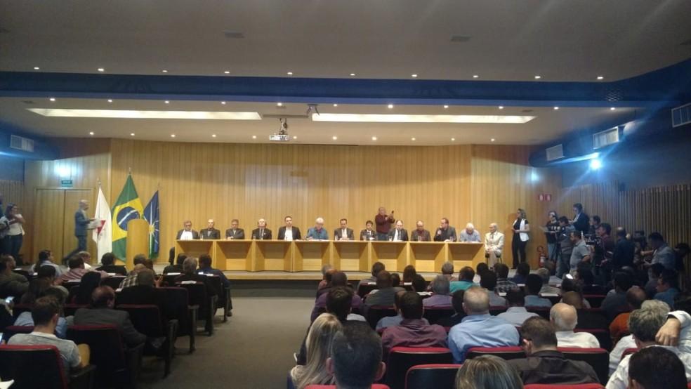 Encontro Ministro da Saúde em Uberlândia (Foto: Gabriella Almeida/G1)