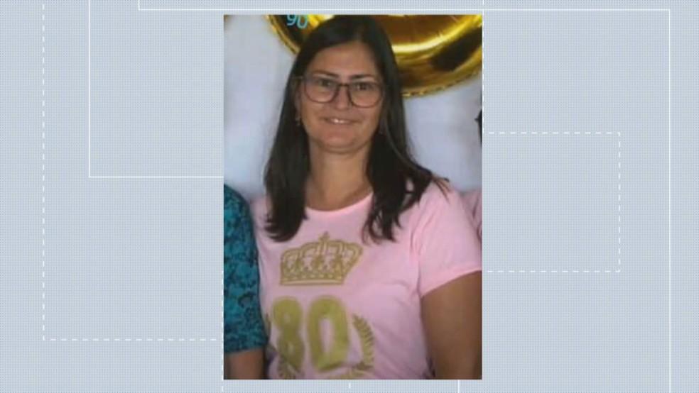 Cleonice Marques de Andrade, de 43 anos, uma das vítimas — Foto: TV Globo / Reprodução