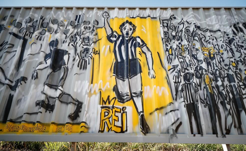 Comemoração de Reinaldo — Foto: Bruno Cantini/ Atlético-MG