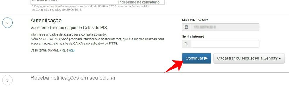 Para consultar o saldo do PIS, é preciso ter a Senha Digital da Caixa (Foto: Reprodução/Rodrigo Fernandes)