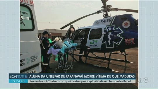Morre estudante da Unespar em Paranavaí que se queimou em acidente com churrasqueira