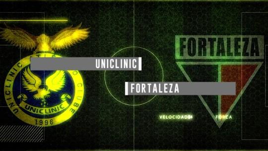 Chamada para a transmissão de Uniclinic x Fortaleza pelo Campeonato Cearense 2018