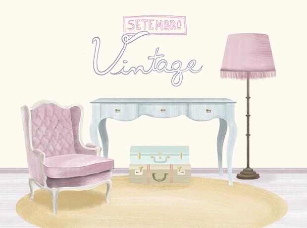 Ilustração Setembro: mês a mês, vintage (Foto: Victor Amirabile/Casa e Jardim)