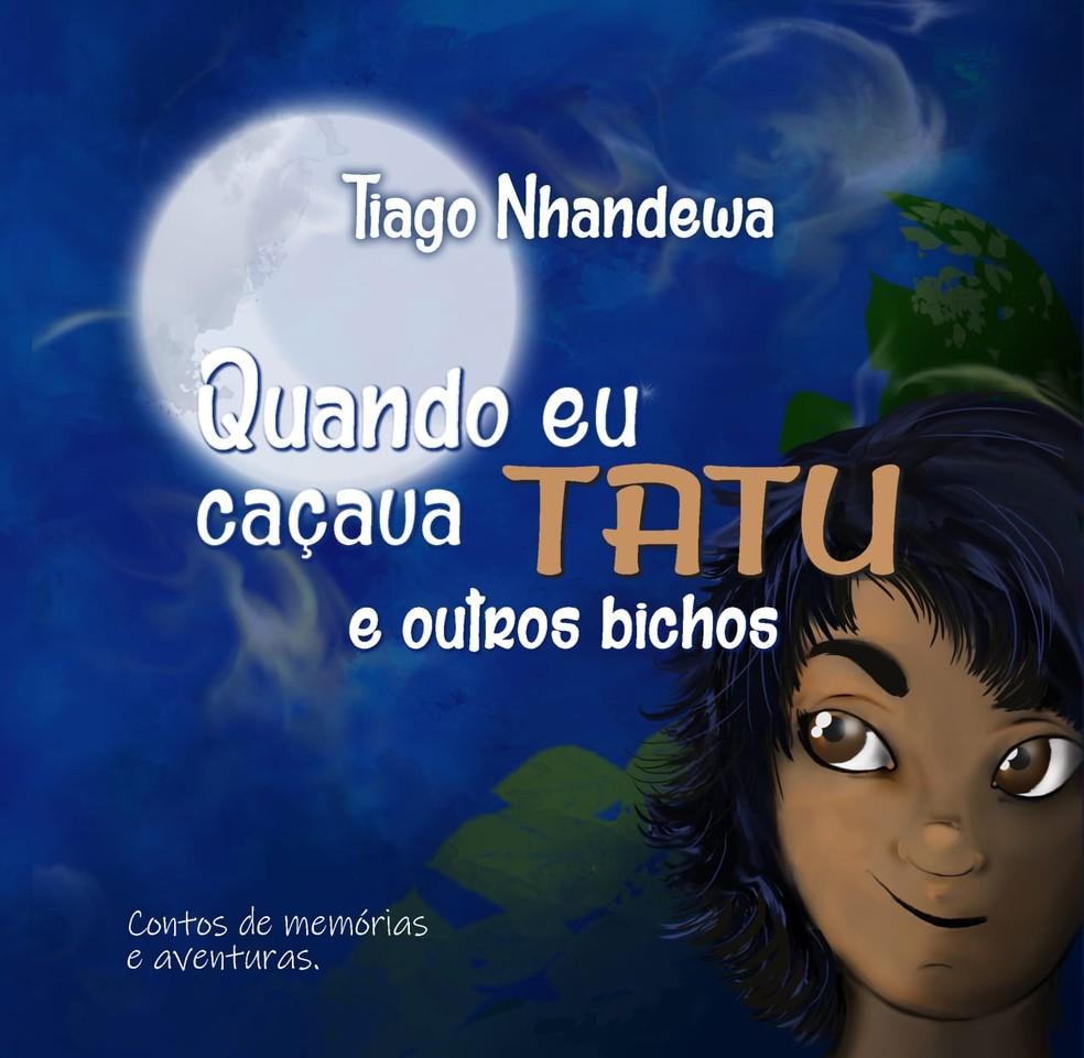 """""""Quando caçava tatu e outros bichos"""" retrata aventuras dos meninos indígenas em Avaí — Foto: Tiago Nhandewa/Divulgação"""
