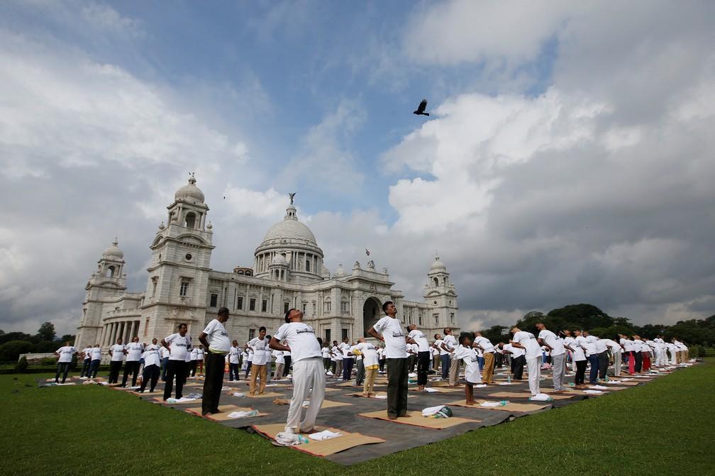 2019 06 21t060443z 251716472 rc14024e58b0 rtrmadp 3 yoga day india - Dia Internacional do Yoga é celebrado pelo mundo; veja fotos