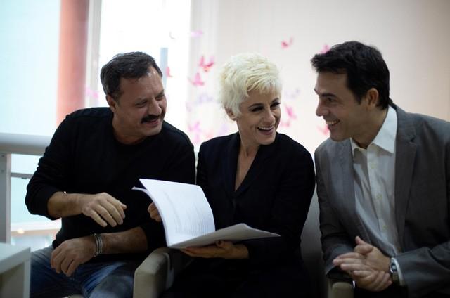 Victor Garcia Peralta, Claudio Lins e Soraya Ravenle  (Foto: Janderson Pires)