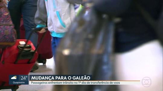 Passageiros enfrentam trânsito no 1º dia de mudança dos voos para o Galeão