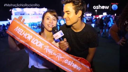 Bruno Gadiol e Daphne Bozaski elegem melhor look do Rock in Rio