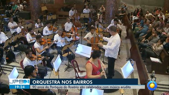 JPB2JP: Orquestra Sinfônica da Paraíba faz concerto na Paróquia do Rosário
