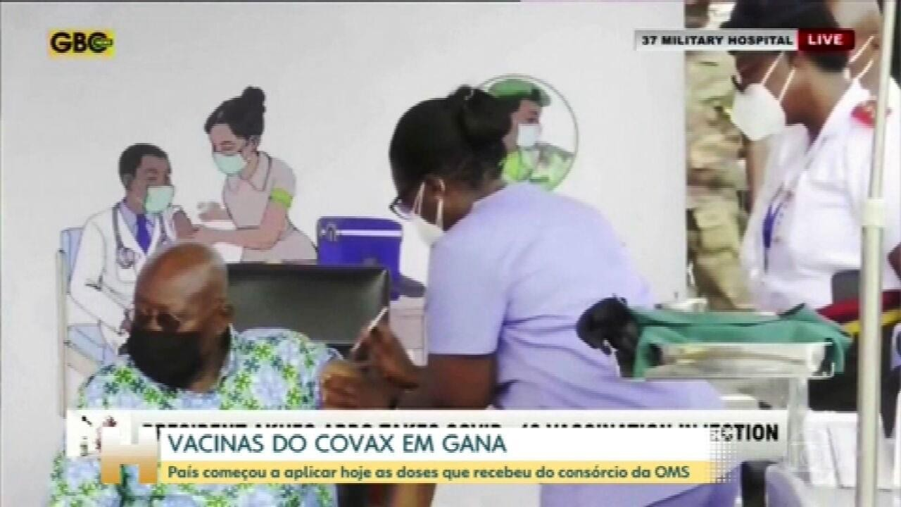 1º país a receber doses de consórcio da OMS, Gana começa vacinação contra Covid-19