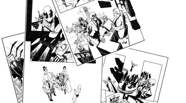 Ilustrações feitas por Bruno Oliveira para a revista Deadpool Vendo Estrelas. (Foto: Divulgação)