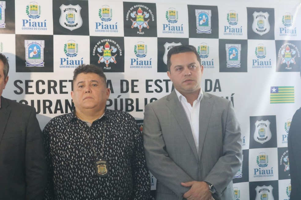 Delegados Sérgio Alencar e Carlos César Camelo. — Foto: Lucas Marreiros/G1 PI
