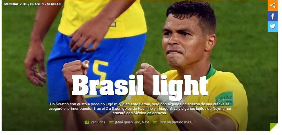 Olé Brasil x Sérvia (Foto: Reprodução)