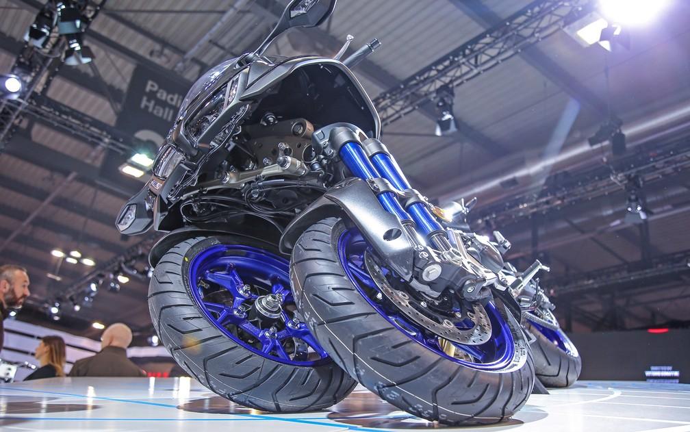 Yamaha Niken, modelo de 3 rodas que foi lançado no Salão de Milão 2017 (Foto: Divulgação/Eicma)