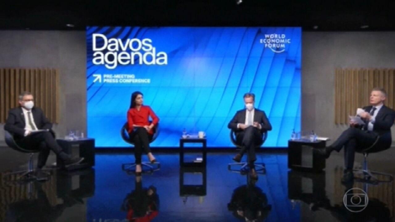 Começa evento virtual do Fórum Econômico Mundial de Davos