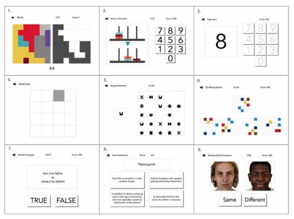 Algumas das tarefas que fazem parte do Great British Intelligence Test  Foto: Reprodução/Via BBC
