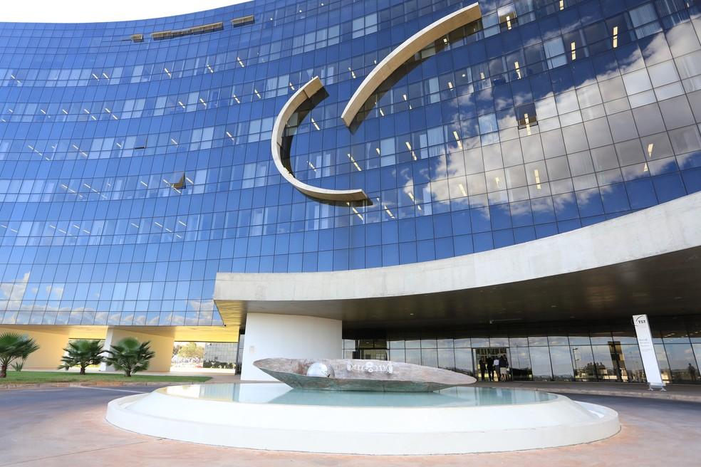 Fachada do Tribunal Superior do Trabalho, em Brasília (Foto: TST/Divulgação)