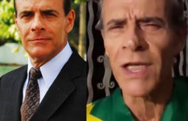 Mario Gomes viveu o ambicioso Gurgel, dono de uma agência especializada em campanhas eleitorais. Na TV, o trabalho mais recente do ator foi na novela 'Tempo de amar' (2018). Atualmente, ele possui um trailer de lanches no Rio de Janeiro (Foto: TV Globo - Reprodução/Instagram)