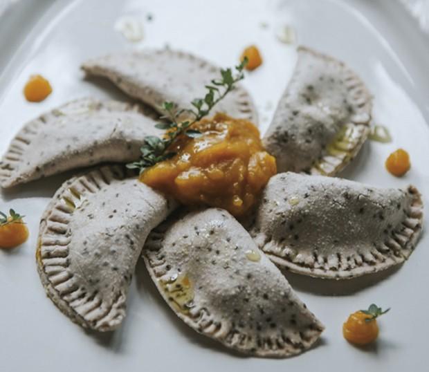 Almoço: Ravióli de chia com abóbora (Foto: Divulgação)