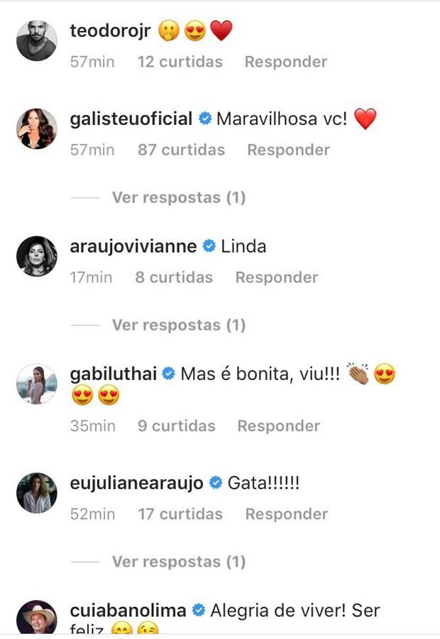 Paolla Oliveira recebe elogios (Foto: Reprodução/Instagram)
