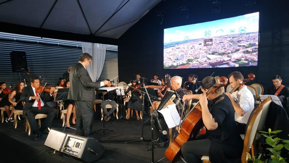 Apresentação da Orquestra Conviver em Anápolis, Goiás — Foto: Comunicação Sem Fronteiras/Divulgação