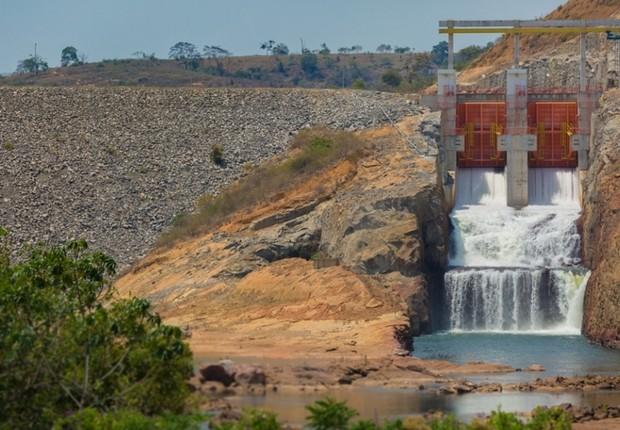 Usina hidrelétrica de Mucuri, da Queiroz Galvão Energia (Foto: Divulgação)