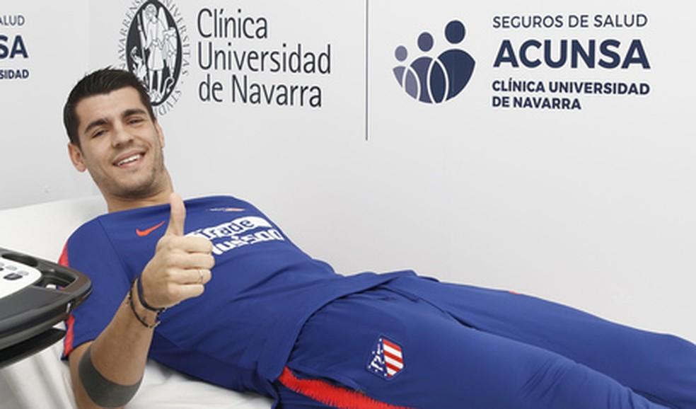 Morata é o novo reforço do Atlético de Madrid — Foto: Divulgação / Atlético de Madrid