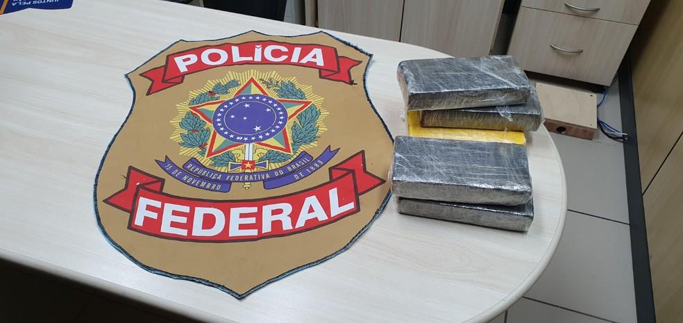 Droga apreendida no centro de distribuição dos Correios, em Natal — Foto: PF/Divulgação