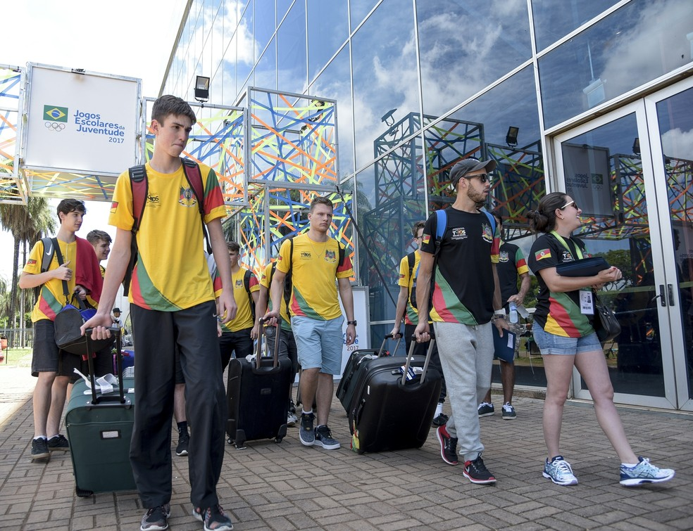 Alunos estão em Brasília desde o dia 16 de novembro (Foto: Washington Alves/Exemplus/COB)